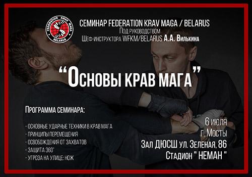Семинар «Основы крав мага» под руководством Алексея Вилькина